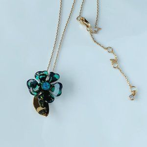 Kate Spade flower green necklace